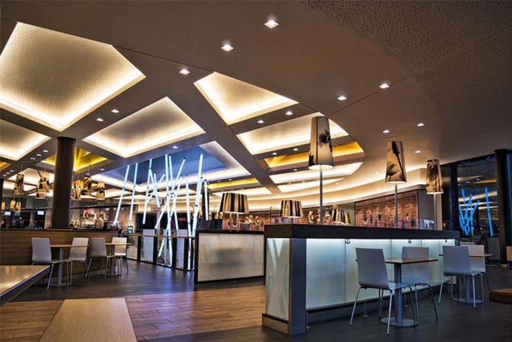 Beleuchtung eines Restaurants