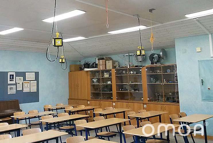 Klassenzimmerbeleuchtung nach der Installation omoa LED Panels Ultra Bright
