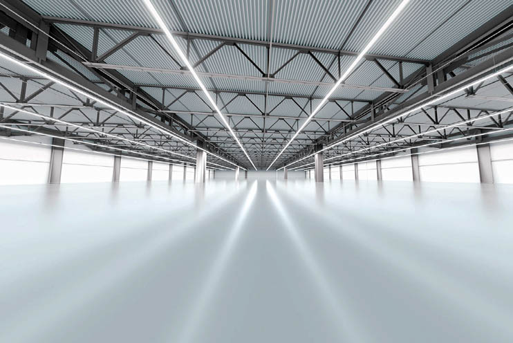 Lagerbeleuchtung mit LED Lichtbaendern