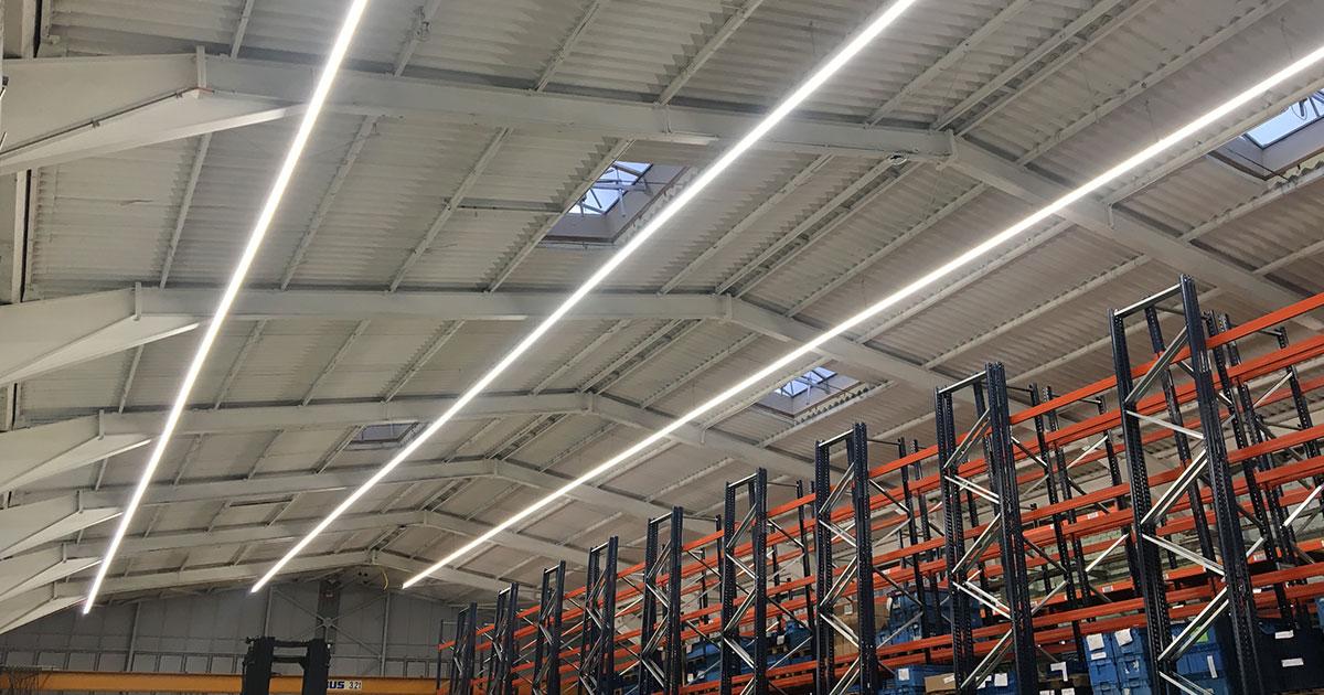 LED Lichtbandsysteme Industrie, Lichtbandystem LED